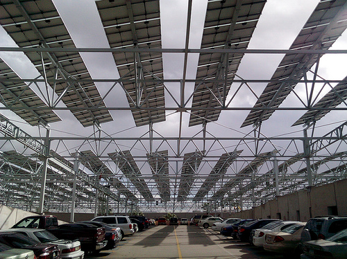 Arizona State University's solar-powered parking structure