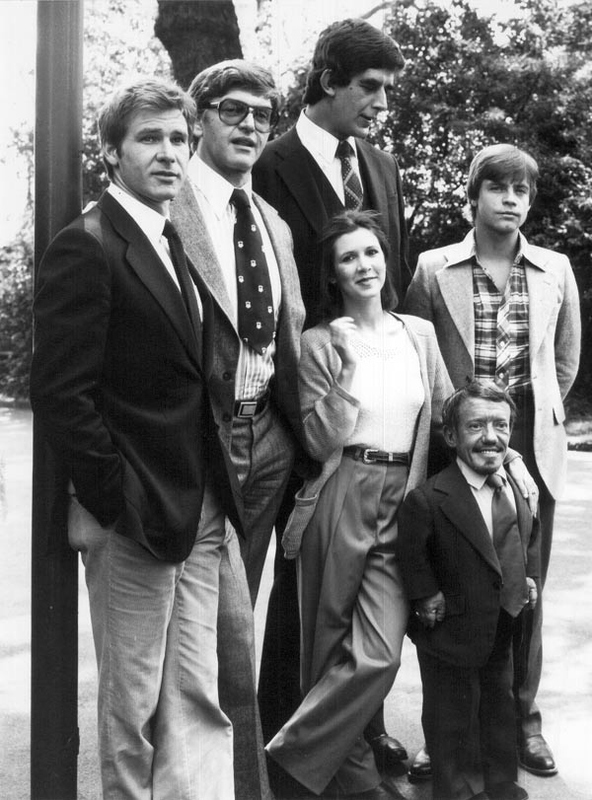 From left to right we have: Han Solo, Darth Vader, Chewbacca, Princess Leia,