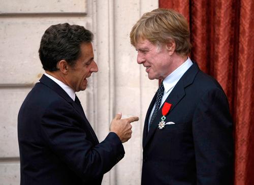 Robert Redford President Sarkozy