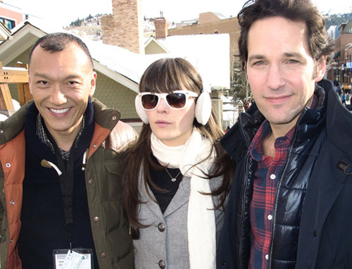 Joe Zee, Zooey Dechanel, and Paul Rudd, Facehunter
