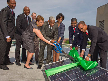 florida avenue baptist church solar panel ribbon cutting