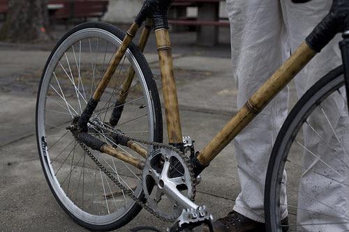 a bamboo bike